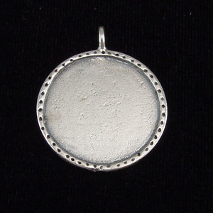 Metal Stamping Blanks Sterling Silver Circle with Textured Edge, Large