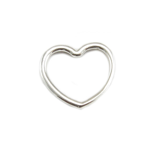 Charms & Solderable Accents Sterling Silver Open Heart