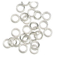Chain & Jump Rings Sterling Silver 7mm I.D. 14 Gauge Jump Rings, pack of 10