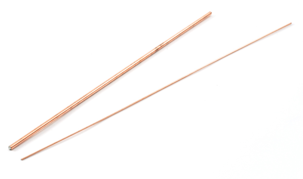 "Set of 2 Metal Dowels .031"" (1mm) and .093"" (2.5mm)"