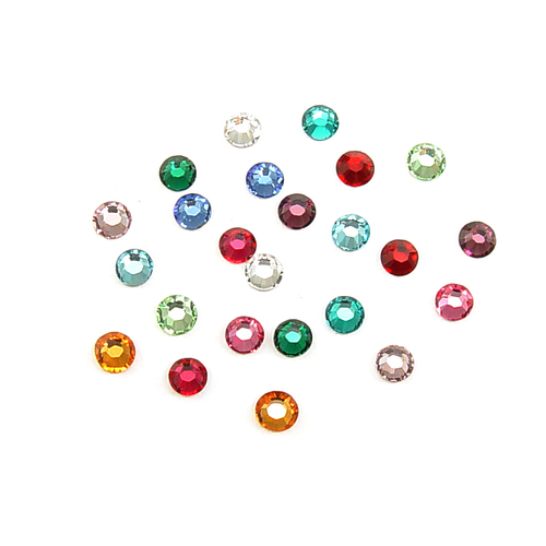 Crystals & Beads 2.6mm Swarovski Flat Back Crystals, Multi Colored (24pk)