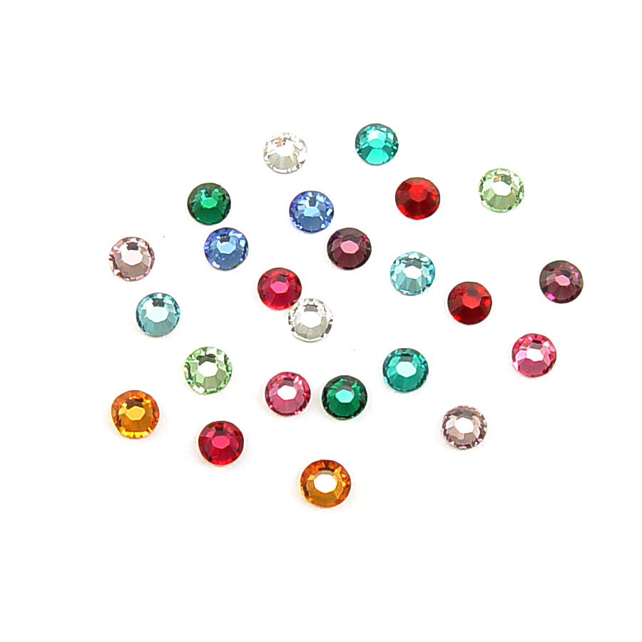 Crystals & Beads 2.6mm Swarovski Flat Back Crystals, Multi Colored (120pk)
