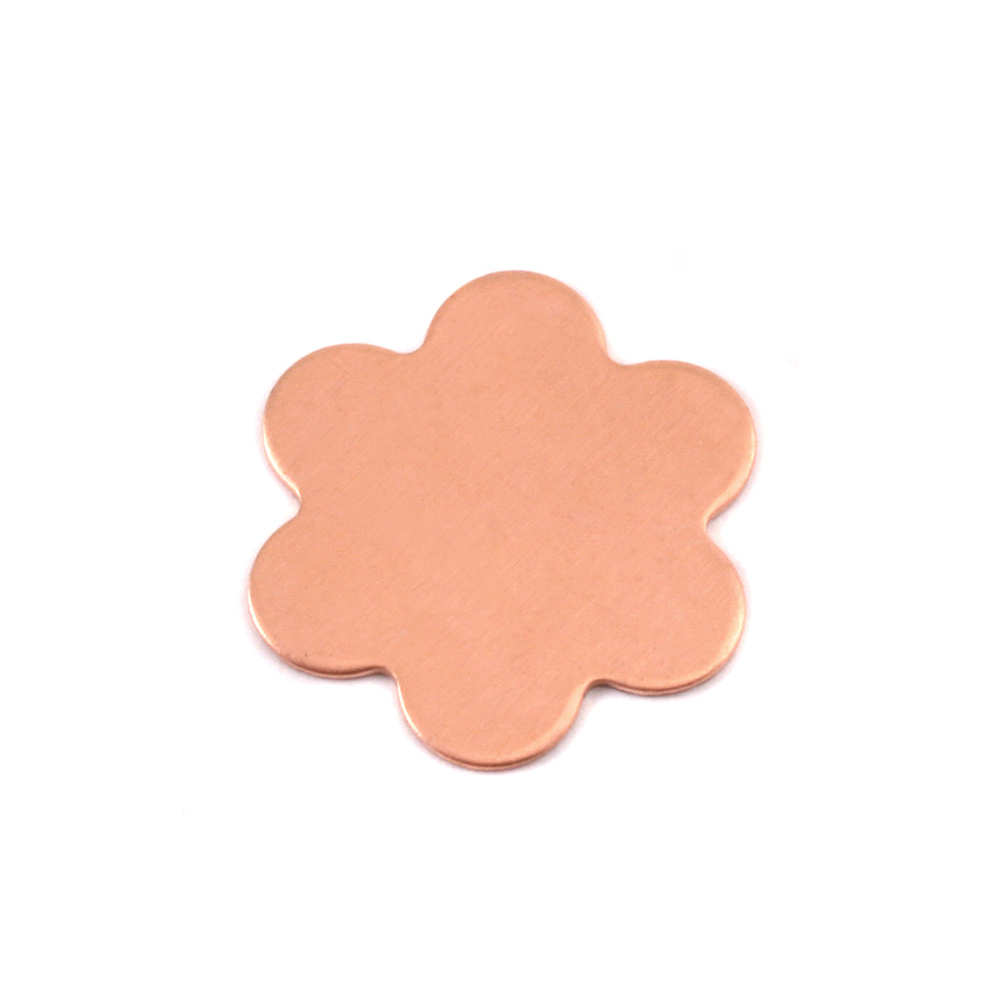 Metal Stamping Blanks Copper Large 6 Petal Flower, 24g