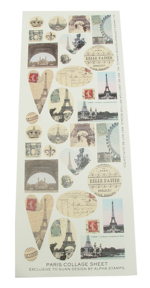 Paris Collage Sheet