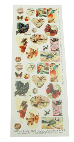 Enamel, Patina & Resin Nature Collage Sheet
