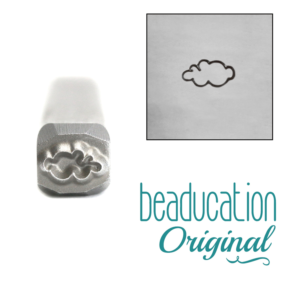 Metal Stamping Tools Cloud Metal Design Stamp, 5mm - Beaducation Original