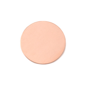 "Metal Stamping Blanks Copper Round, Disc, Circle, 19mm (.75""), 24g, Pk of 5"