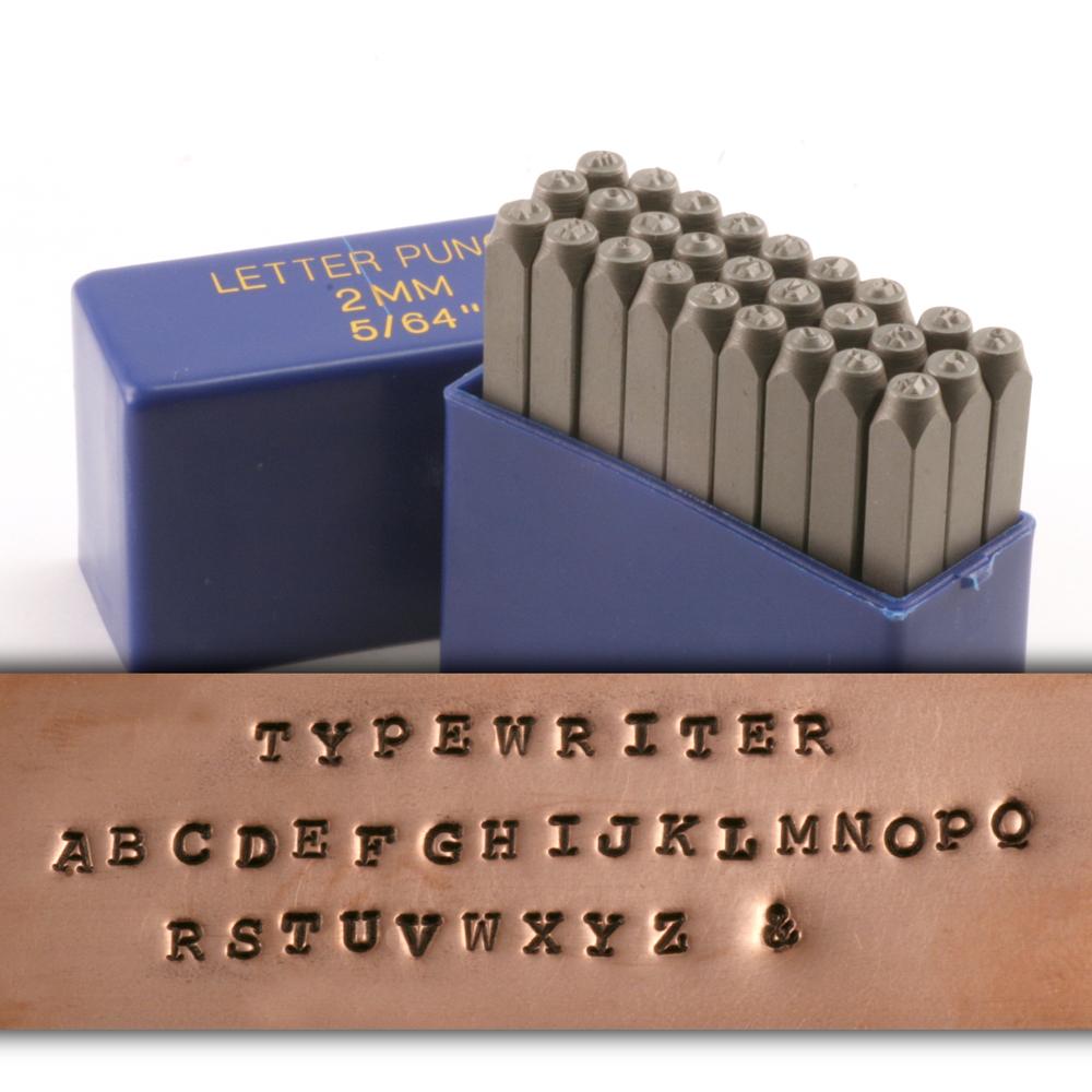 Metal Stamping Tools Typewriter Uppercase Letter Stamp Set 5/64