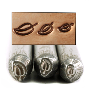 Metal Stamping Tools Leaf Set of 3 Design Stamps