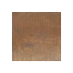 "Sheet Metal Antiqued Brass 24 gauge Sheet Metal, 3"" x 3"" piece"