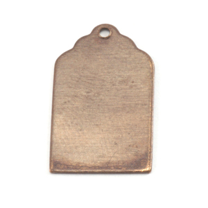Metal Stamping Blanks Antiqued Brass Luggage Tag with Hole, 24g