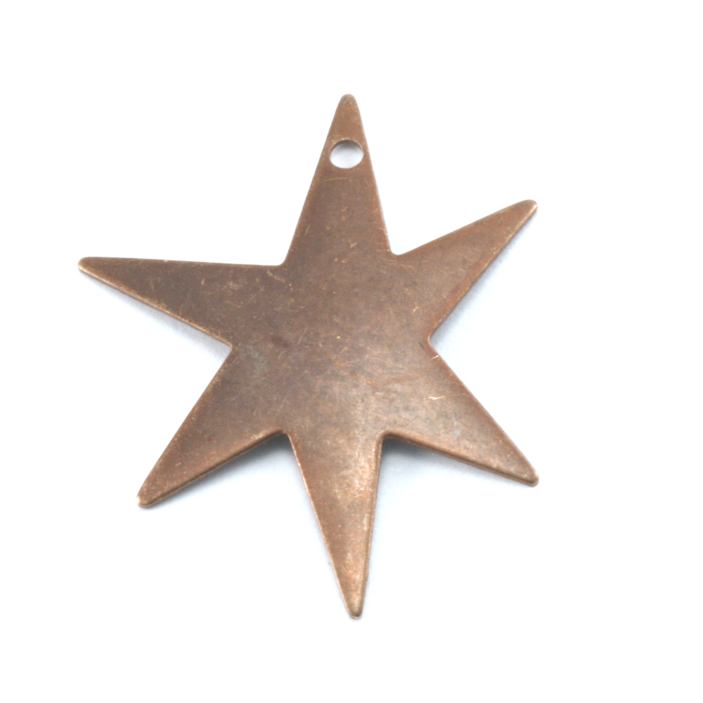 Metal Stamping Blanks Antiqued Brass Asymmetric Star with Hole, 26g