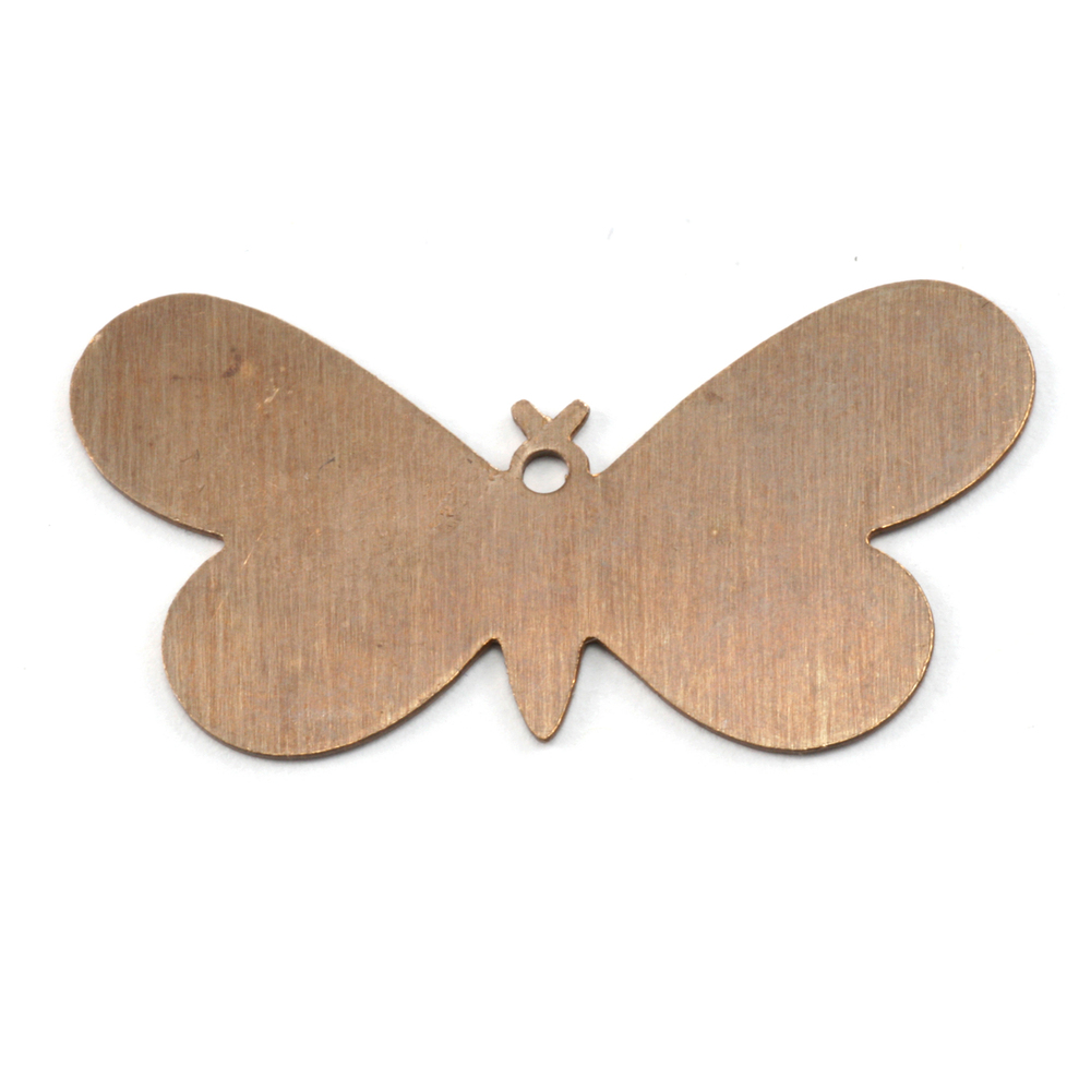 Metal Stamping Blanks Antiqued Brass Butterfly with Hole, 24g