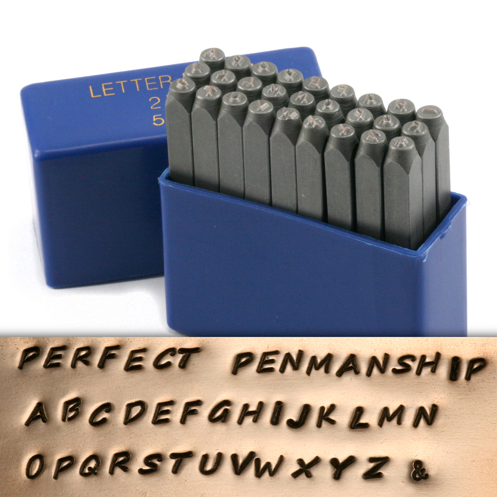 "Metal Stamping Tools Perfect Penmanship Uppercase Letter Stamp Set 5/64"" (2mm)"