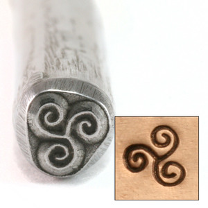 Metal Stamping Tools Triple Spiral Wave Design Stamp