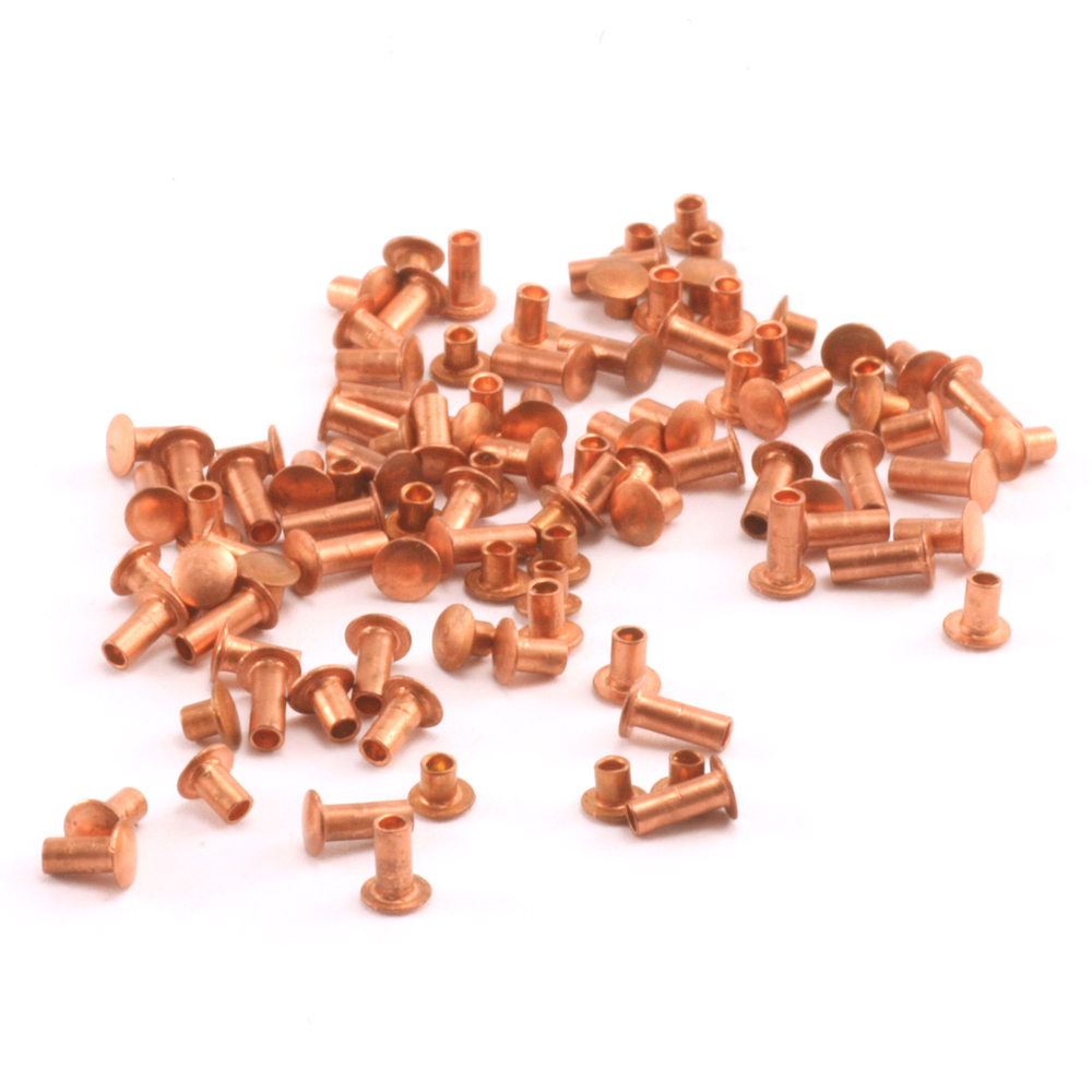 "Rivets and Findings  Assorted Copper Hollow 1/16"" Rivets"