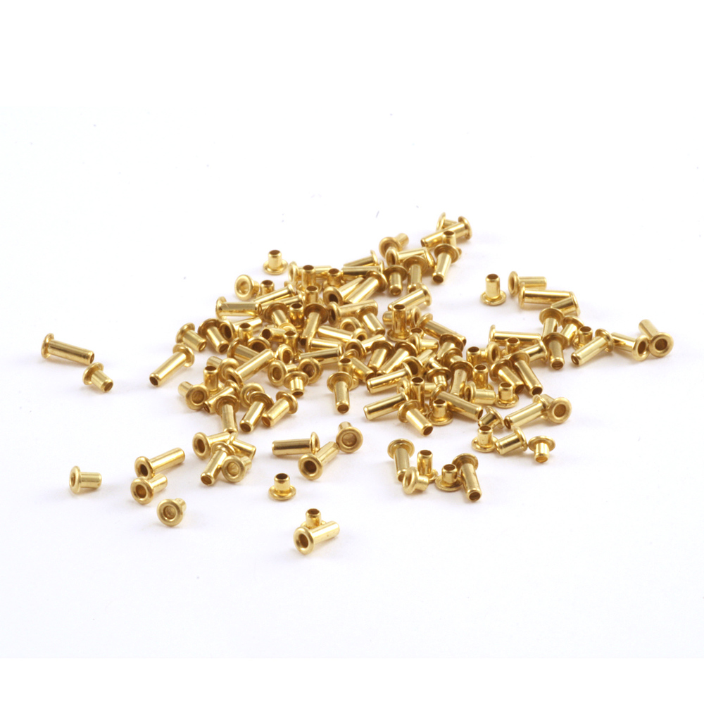 "Rivets and Findings  Assorted Lengths 1/16"" Brass Eyelets"