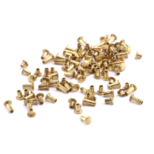 "Riveting Tools & Supplies Assorted Brass Hollow 1/16"" Rivets"
