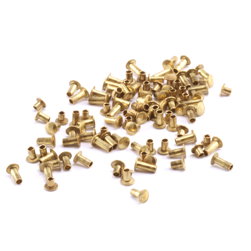 "Rivets and Findings  Assorted Brass Hollow 1/16"" Rivets"