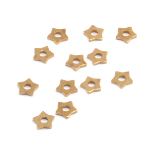 Rivets,  Findings & Stringing Star Brass Rivet Accents