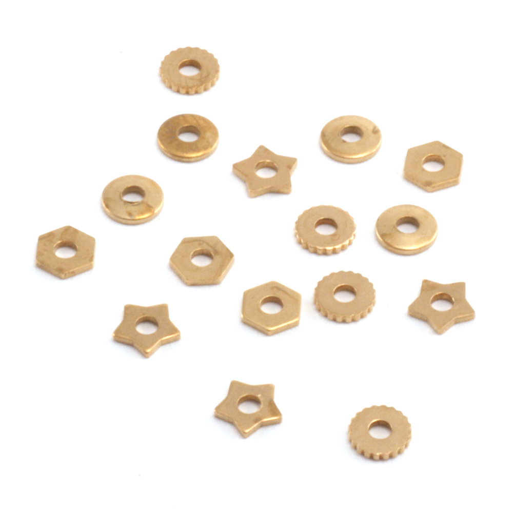 Rivets,  Findings & Stringing Assorted Brass Rivet Accents