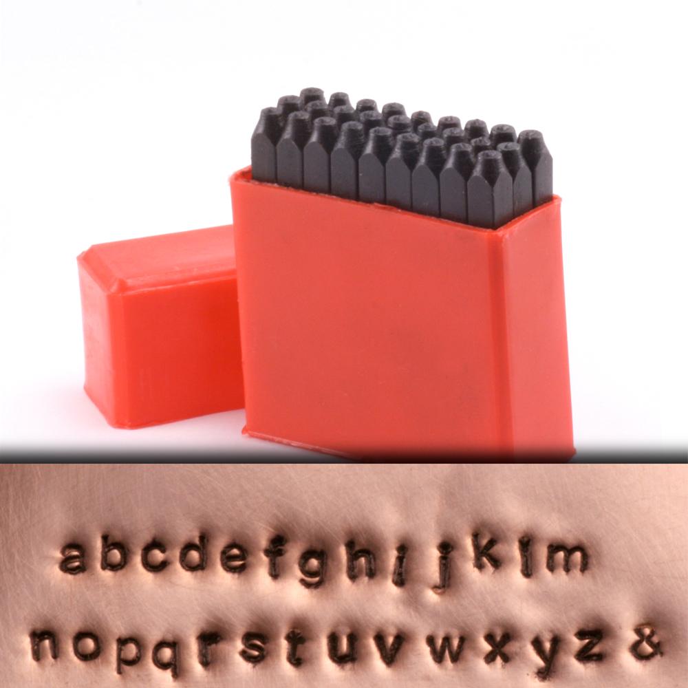 "Metal Stamping Tools Economy Block Lowercase Letter Stamp Set 3/32"" (2.4mm)"
