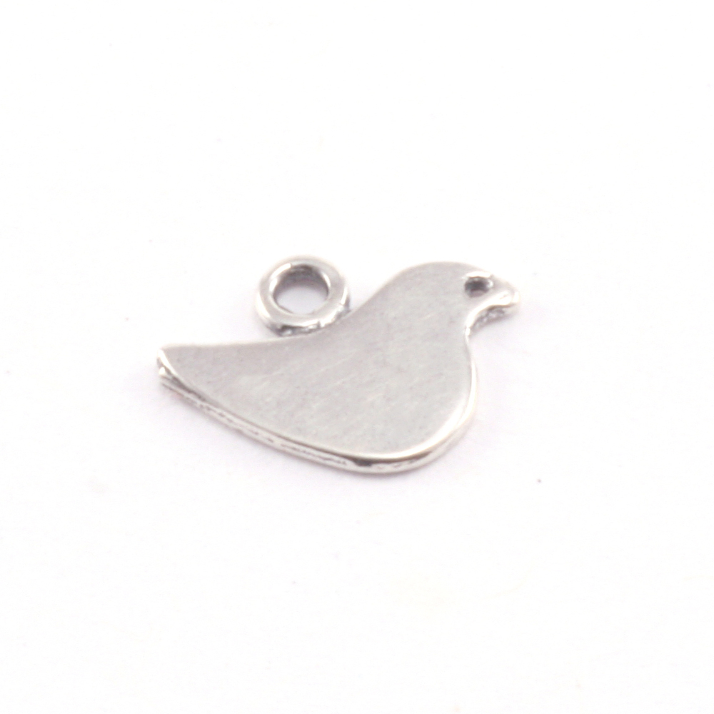 Charms & Solderable Accents Sterling Silver Itty Bitty Birdie Charm with Top Loop, Pack of 4
