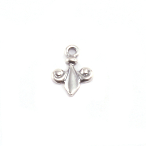 Charms & Solderable Accents Sterling Silver Tiny Fleur De Lis Charm