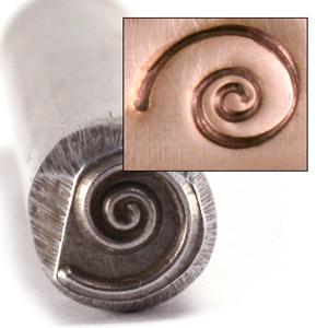 Metal Stamping Tools Open Spiral Design Stamp
