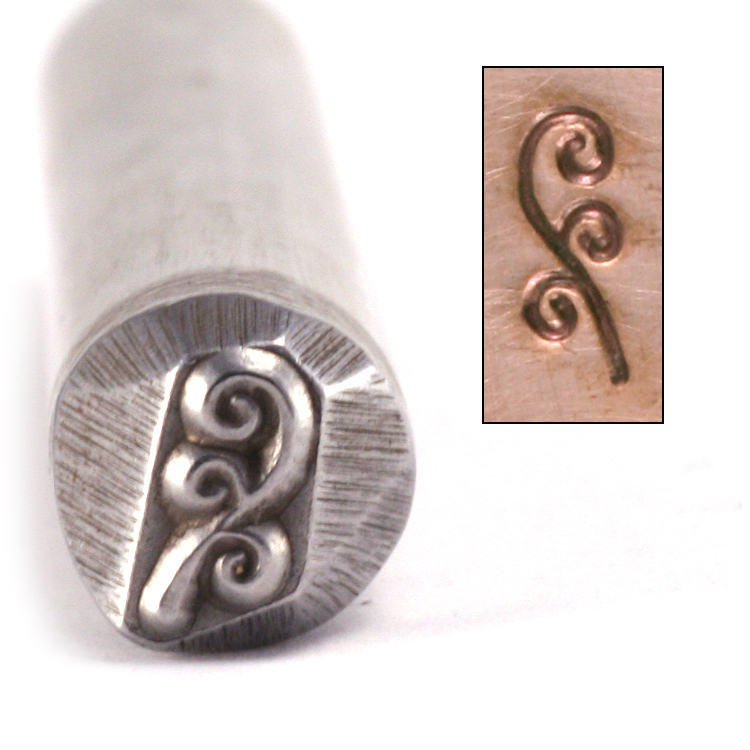 Metal Stamping Tools 3 Flowing Spirals Metal Design Stamp