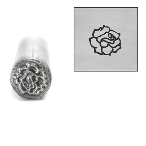 Metal Stamping Tools Rose Flower Metal Design Stamp, 7.5mm