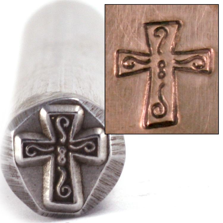 Metal Stamping Tools Fancy Cross Metal Design Stamp