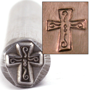 Metal Stamping Tools Fancy Cross Design Stamp