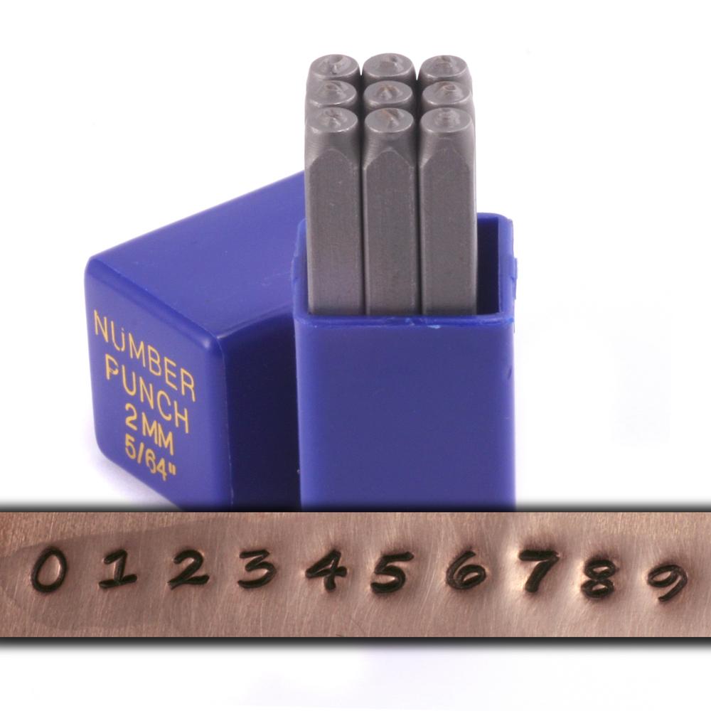 """Metal Stamping Tools Perfect Penmanship Number Set 5/64"""" (2mm)"""