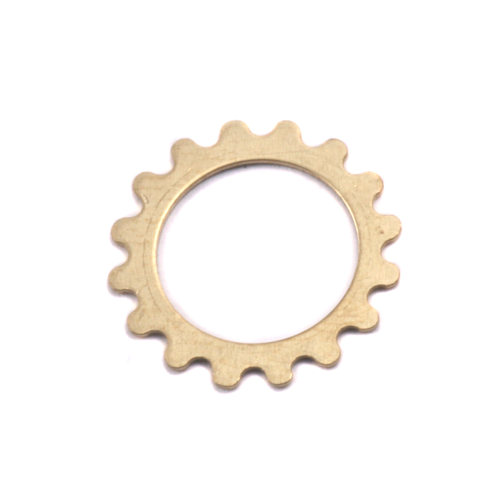 Metal Stamping Blanks Brass Small Open Cog, 24g