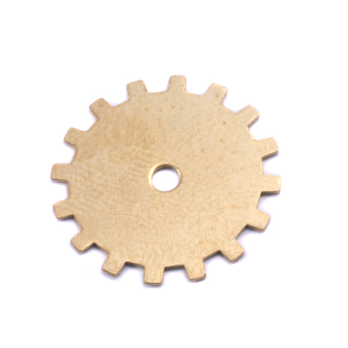 Metal Stamping Blanks Brass Medium Solid Cog, 24g