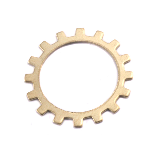 Metal Stamping Blanks Brass Medium Open Cog, 24g