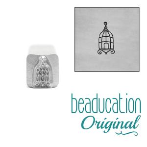 Metal Stamping Tools Bird Cage Metal Design Stamp, 8mm - Beaducation Original