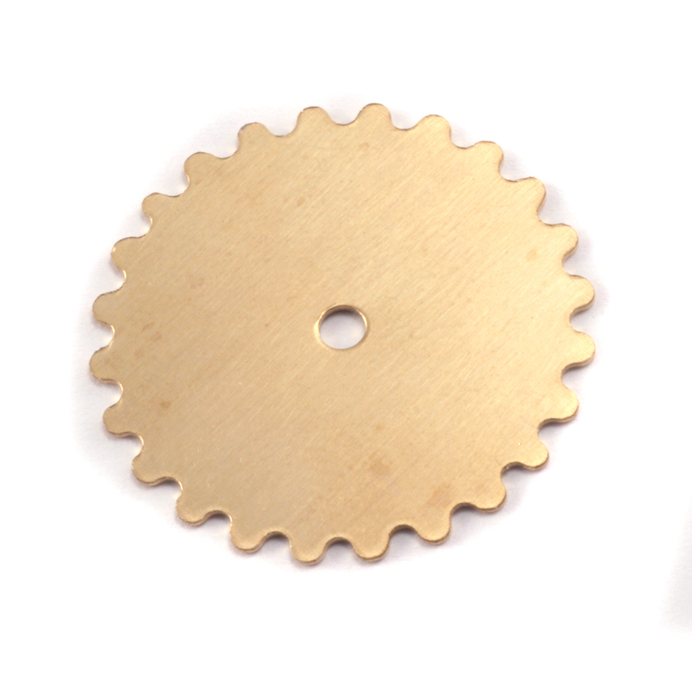 Metal Stamping Blanks Brass Large Solid Cog, 24g