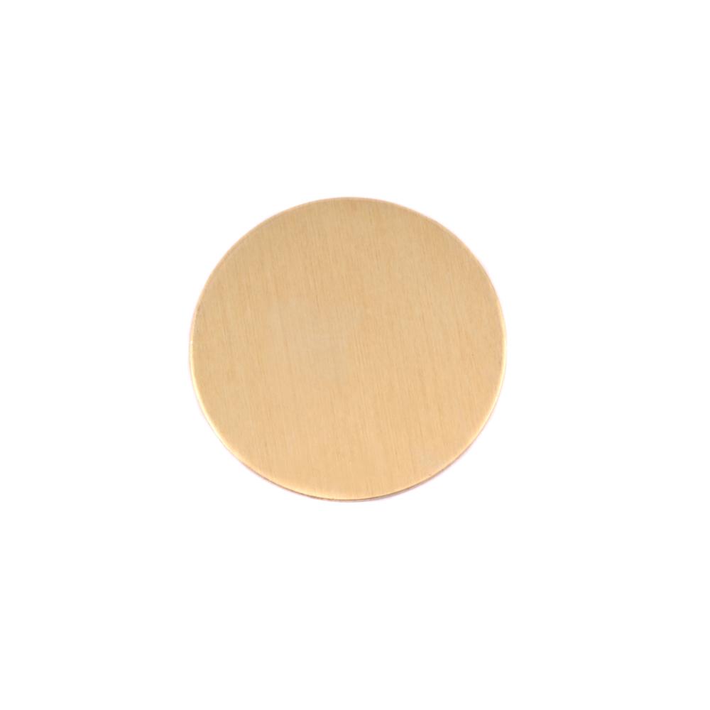 """Metal Stamping Blanks Brass Circle, 16mm (.63""""), 24g"""