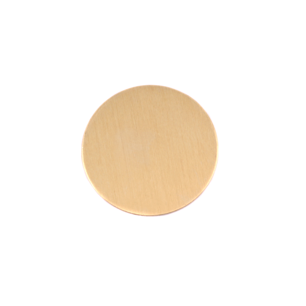 "Metal Stamping Blanks Brass Round, Disc, Circle, 16mm (.63""), 24g, Pack of 5"