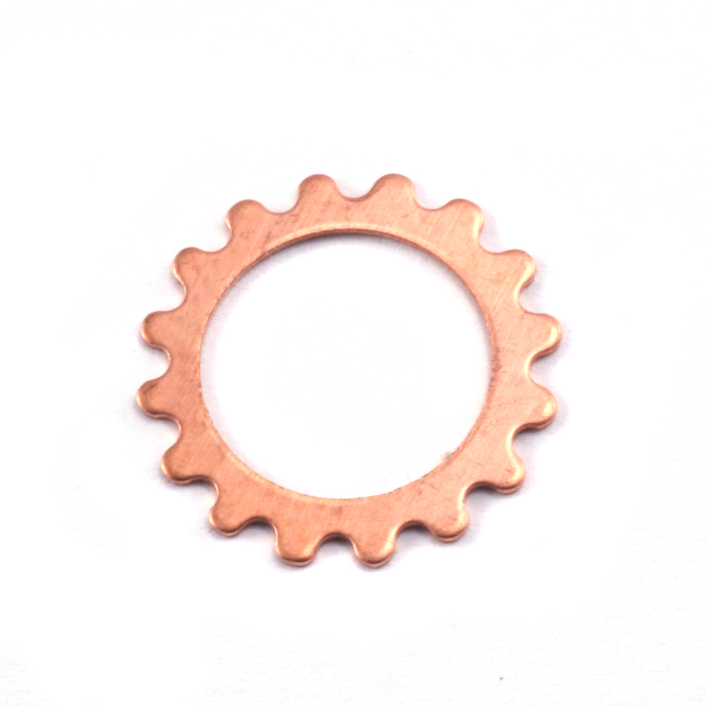 Metal Stamping Blanks Copper Small Open Cog, 24g