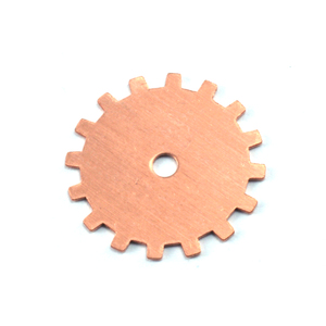 "Metal Stamping Blanks Copper Solid Cog, 19mm (.75""), 24g"