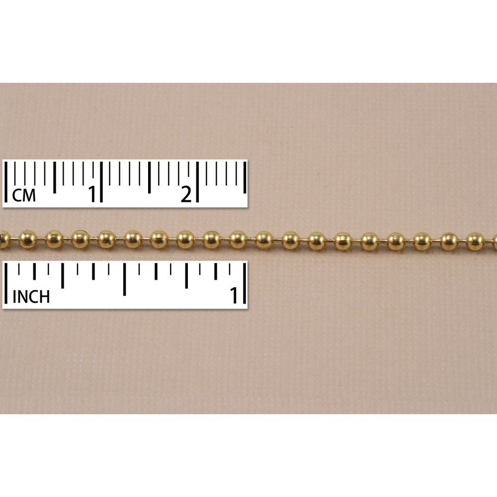 Chain & Clasps Yellow Brass Ball Chain, by the Inch