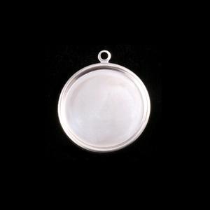"Metal Stamping Blanks Sterling Silver 5/8"" (16mm) Pressed Circle w/Raised Edge"