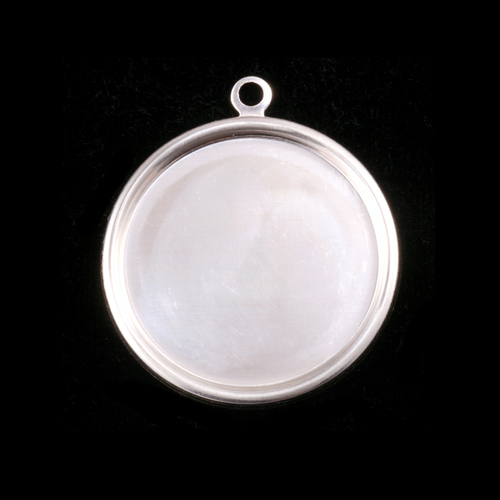 "Dregs Sterling Silver 7/8"" (22mm) Pressed Circle w/Raised Edge"