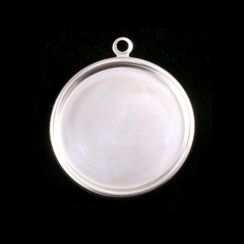 "Sterling Silver 7/8"" (22mm) Pressed Circle w/Raised Edge"