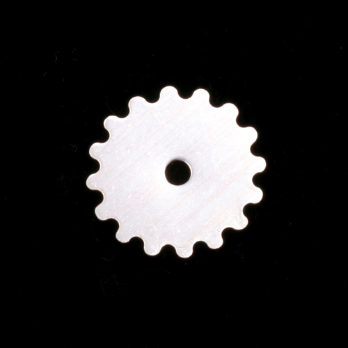 Metal Stamping Blanks Sterling Silver Small Solid Cog, 24g