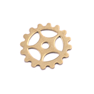 "Metal Stamping Blanks Brass Spoked Cog, 16mm (.63""), 24g"