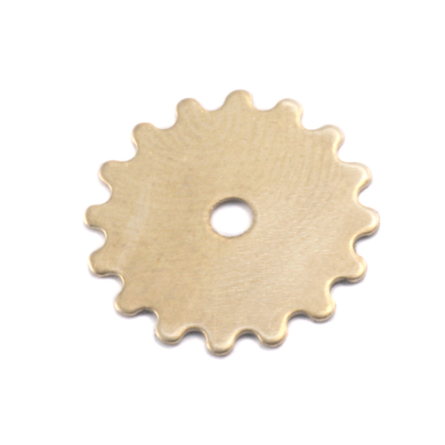 Metal Stamping Blanks Brass Small Solid Cog, 24g